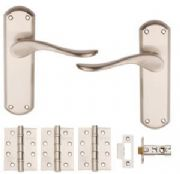 Satin Nickel Plated Sigma Internal Boxed Door Pack